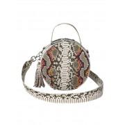 Buffalo Handtasche in Schlangenoptik, weiß
