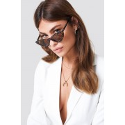 NA-KD Accessories Studded Cat Eye Sunglasses - Solglasögon - Brown