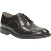 Clarks Swinley Limit Black Leather Lace Up For Men(Black)