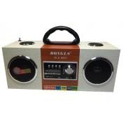 Hordozható multimédia lejátszó hangszóró akkumulátorral távirányítóval Mp3,FM-Rádió, USB, SD kártya, 3,5 jack - DLS-6601