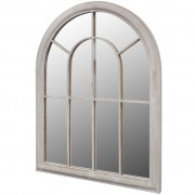 vidaXL Arco Rústico Espelho para Jardim 89 x 69 cm
