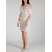 【66%OFF】ドットプリント オフショルダードレス オフホワイト 42 ファッション > レディースウエア~~ワンピース