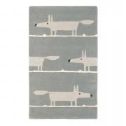 Brink & Campman tapijt Scion Mr. Fox Silver 25304 - grijs - 90x150 cm - Leen Bakker