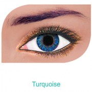 FreshLook Colorblends Power Contact lens Pack Of 2 With Affable Free Lens Case And affable Contact Lens Spoon (-6.50Turquoise)
