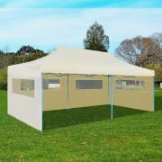 vidaXL Cream Foldable Pop-up Party Tent 3 x 6 m