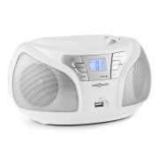 oneConcept Groovie WH Boombox Bluetooth CD FM AUX MP3 vit