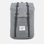 Herschel Supply Co. Men's Retreat Backpack - Raven Crosshatch/Black Rubber