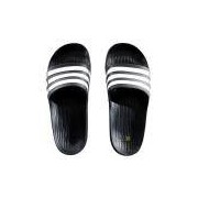 Chinelo Adidas Duramo Slide Preto e Branco - 44-45 Masculino