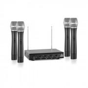 VHF-4-H Radiomicrofono VHF 4 Canali Set 4 x Microfoni 50m