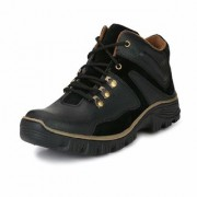 Vitegra Men's Black Boot Shoes