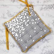 Galette de chaise à imprimés triangulaires
