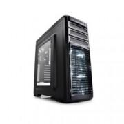 Кутия DeepCool Kendomen Titanium, ATX/mATX/miniITX, 1x USB 3.0, прозорец, подсветка, черна, без захранване