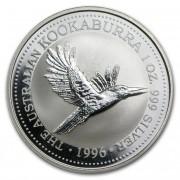 Kookaburra Stříbrná mince 1 AUD Australian Ledňáček 1 Oz 1996