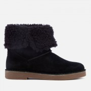 Clarks Women's Drafty Haze Suede Boots - Black - UK 7 - Black