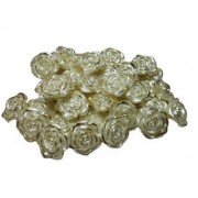 Stylewell (Pack Of 500 Gram) 25mm Golden Shell Flower Pearl Bead For Jewellery Beading Decorations Arts And Craftworks