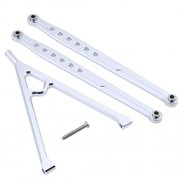 """HobbyPark Aluminum Front Links Rod & Chassis Link Sliver For AXIAL SCX10 (Wheelbase: 313mm / 12.3"""") Replacement Parts"""