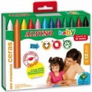 Creioane cerate ALPINO Baby cutie carton 12 culori/set