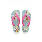 Havaianas Kids Fantasy Sandal, (Toddler/Little Kid),Blue/Pink,33/34 BR (3-4 M US Little Kid)