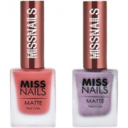 Miss Nails All Coral Red Onion Matte Series nail Polish combo pack 10 ml each