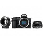 Aparat Foto Nikon Z50 (cu obiectiv 16-50mm VR )+Adapter FTZ Negru