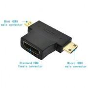 Techvik Hdmi Female To Mini Micro Hdmi Male Adapter T-shape Converter Hdmi Adapter Hdmi Adapter