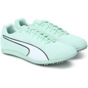 Puma evoSPEED Distance 8 Wn Cricket Shoes For Women(Green)