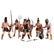 Medieval Rome Empire Arena Gladiator Soldiers Combatant Action Figures Toy 6pc set