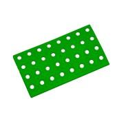 Zelený plastový nájezd AT-STD, AvaTile - délka 25 cm, šířka 13,7 cm a výška 1,6 cm