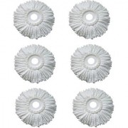 WayMore Microfiber Spin Mop Refill (White Pack of 6)