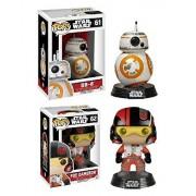 Funko POP! Star Wars: Episode VII - Poe Dameron & BB-8 Vinyl Bobble-Heads NEW