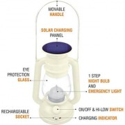 Grind sapphire Bright Led 1st Step Night Lamp Solar Rechargeable Multicolor Plastic Hanging Lantern
