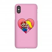Nintendo Funda móvil Nintendo Super Mario Beso Peach para iPhone y Android - iPhone 5C - Carcasa rígida - Mate