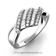 Zásnubní GEMS luxusní prsten s diamanty Laura, bílé zlato 386-0276