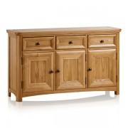 Oak Furnitureland Natural Solid Oak Sideboards - Large Sideboard - Wiltshire Range - Oak Furnitureland