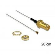 Delock Antenna Cable RP-SMA Jack Bulkhead MHF IV/HSC MXHP3