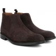 Clarks Chilver Top Dark Brown Suede Boots For Men(Brown)