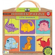 Innovative Kids Green Start Wooden Puzzles: Little Dinosaurs (18Mos+) Puzzle