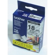 BROTHER TZ Tape, 18mm Black on Clear, Laminated, 8m lenght, Eco (TZE141)