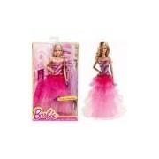 Boneca Barbie Luxo Vestido Longo De Festa Rosa Mattel