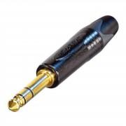 Neutrik - NP3X-B Klinkenstecker 6,35mm, 3-polig, schwarz