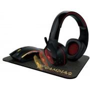 Kit Gaming Gamdias Artemis E1, Mouse + Casti + Mousepad (Negru)