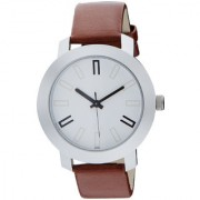 Katrodiya Round Dail Black And Brown Leather StrapMens Automatic Watch For Men