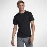 Tee-shirt de surfà manches courtes Hurley Icon Quick Dry pour Homme - Noir