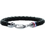 Tommy Hilfiger Mens Casual Black Leather Bracelet 2700510