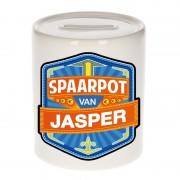 Bellatio Decorations Vrolijke kinder spaarpot voor Jasper