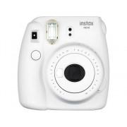 Fujifilm Kit Cámara Instantánea FUJIFILM Instax Mini 9 + 10 películas (Smoky White - Obturación: 1/60 s - 2x Pilas AA - 62x46mm)