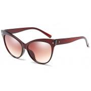 Ochelari de soare cu rama bordo Cat Eye Glasses