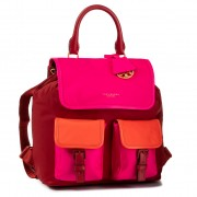 Раница TORY BURCH - Perry Nylon Color Block Flap Backpack 60951 Redstone/Bricht Pink/Bright Samba 618
