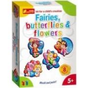 Set creativ copii Zane Flori Fluturi