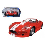 Maisto 1999 Shelby Series 1 Convertible, Red - Special Edition 31142 1/18 Scale Diecast Model Toy Car